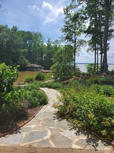 Photo for Main lake view, beach and dock at Lake Gaston