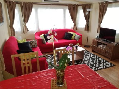 Photo for Mobile Home 2 bedrooms near Lake comfortable fully equipped Village 4 stars