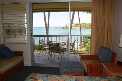 The view from the unit onto Napili Bay.