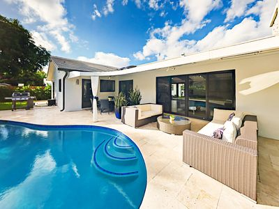 Pool - Your backyard features a poolside outdoor living room.