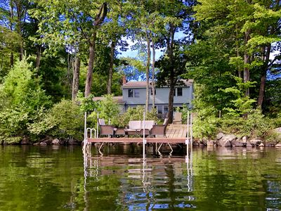 Photo for Spacious Year-Round Lakefront Family Home On Thomas Pond in South Casco, Maine