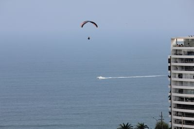 Paragliding happens at any time viewed from Condo