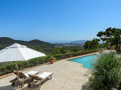 Photo for On top of Ibiza - Villa with spectacular view