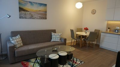 Photo for Apartment in Gdansk, close to the beach and center, WiFi, parking, elevator