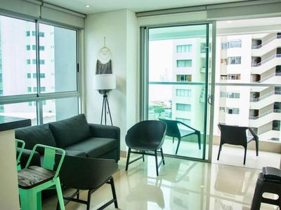Photo for Exclusive apartment with sea view, pool, balcony and jacuzzi!