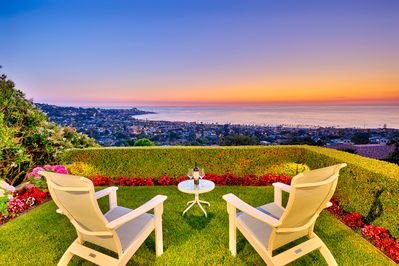 Enjoy breathtaking sunsets and twinkling village lights from your exquisite private perch.