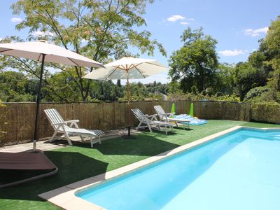 Photo for Charming House-Private Pool in Aubeterre sur Dronne, qualified village of France
