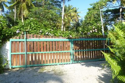 The gated property has secure parking.