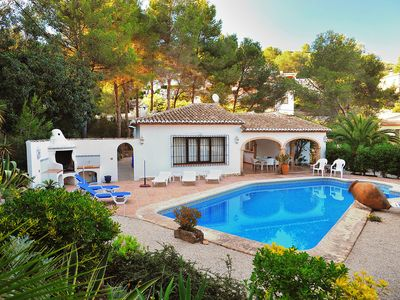 Photo for This 3-bedroom villa for up to 6 guests is located in Javea and has a private swimming pool.........