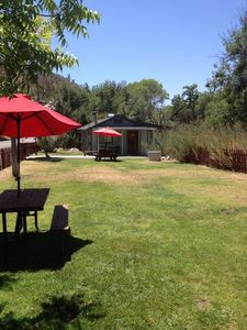 Kaweah Oak Cabin sleeps eight in beds, with two additional sofa sleepers.