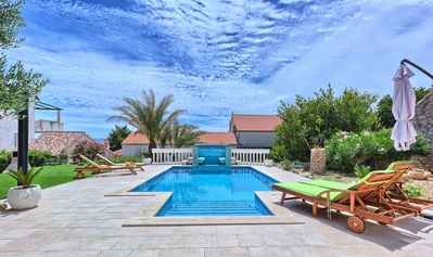 Photo for Villa Lemo with private pool in Bol, island of Brac