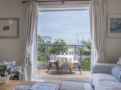 Photo for Ropewalk Cottage Lymington, balcony views river/sea/Isle of Wight, parking space