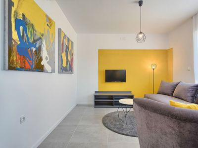 Photo for Lovely apartment for 4 people with pool, WIFI, A/C, TV and parking