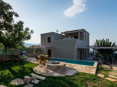 Photo for Traditional Stone built Villa, Private Pool, 50m from Tavern & 4km to the Beach