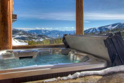 Enjoy some of the best views in Big Sky from your private hot tub.