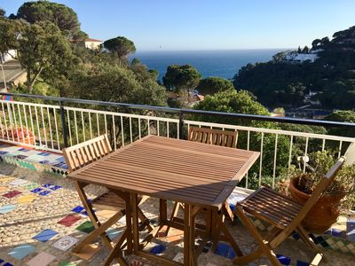 Photo for Sea view apartment in charming bay ROSAMAR