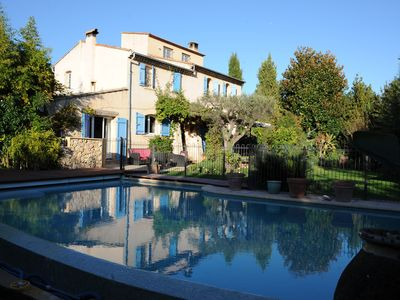 Photo for Outstanding bastide in Antibes, heated pool, tennis court, large garden, 6 bedr