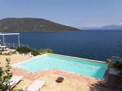 Photo for Luxury villa with private beach and swiming pool with fantastic see view
