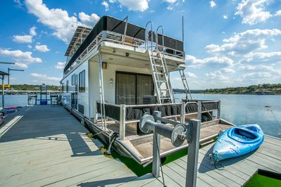 Houseboat and side dock