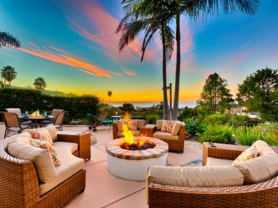 Photo for Gorgeous Ocean View Home with fire pit and Jacuzzi