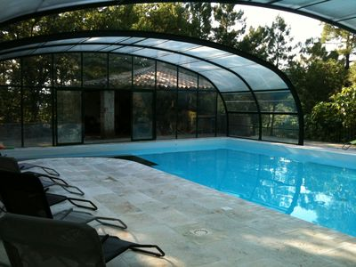 Photo for Cottage 3 ☆. 8 and 10 people Indoor pool. In nature in a hamlet