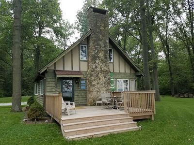 Photo for Nestled On 8 Private, Wooded Acres On The Shore Of Grand Lake St Marys