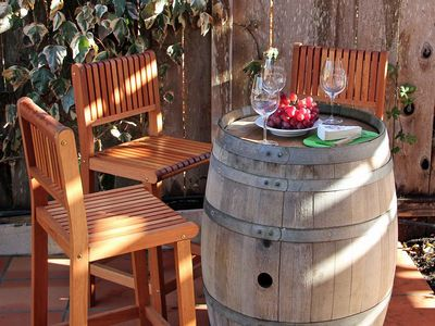Photo for Spa, Bocce, Bbq Kitchen, Walk or Bike to Wineries, Bikes Included