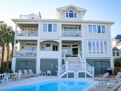 Photo for OCEANFRONT | MANSION ON THE BEACH | POOL | GREAT FOR LARGE FAMILIES
