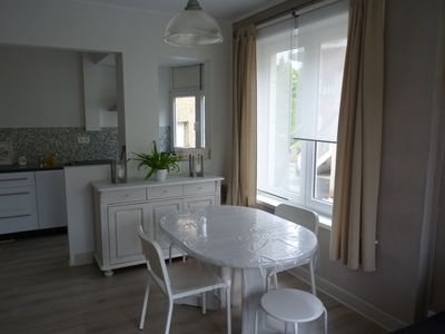 Photo for Beautiful 2 bedrooms apartment at 100 meters from the beach in De Panne