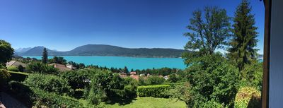 Photo for A house of 200m2 with panoramic view over lake Annecy, 1300m2 beautiful garden