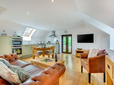 Photo for Enjoy contemporary, upstairs living at this stylish cottage on the Isle of Anglesey - one of three h