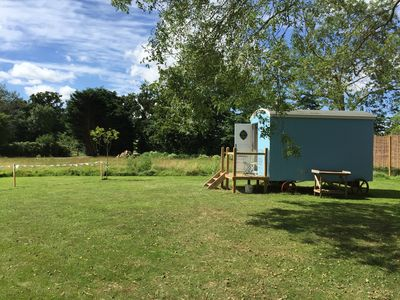 Photo for Shepherd Hut 'Jemima', near Beccles - snug and warm, with private shower room