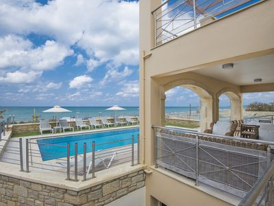 Photo for Beach Front Villa for 12,By Beach & All Amenities