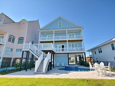 Photo for One Papa Place, Luxury Oceanfront Beach House with Game Room, Pool and Hot Tub - Close to Pier