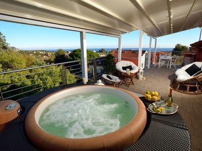 Photo for Amazing holidays home with jacuzzi, sauna and wonderful sea view terrace
