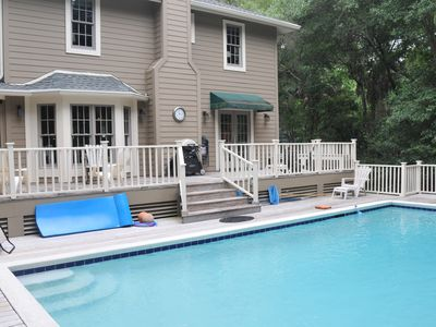 Photo for Quiet, secluded home w/ private pool - close to nature trails, beach & golf!