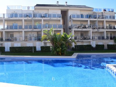 Photo for Large and nice apartment in Oliva, on the Costa Blanca, Spain  with communal pool for 6 persons