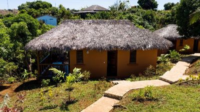 Photo for 2 Garden view and sea view apartments and 2 bungalows