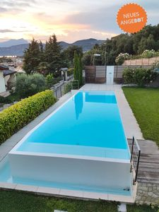 Photo for VILLA MADABA' - Modern style with pool and a fantastic lake view BARDOLINO
