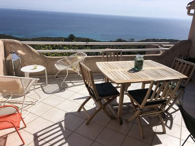 Photo for A balcony overlooking the Mediterranean near the most beautiful beaches in southern Corsica