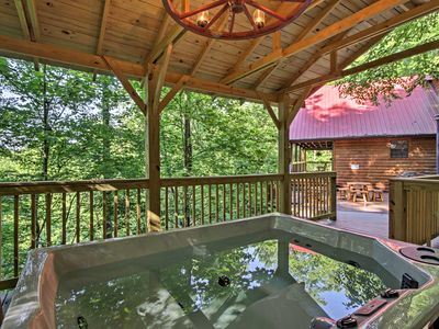 Photo for Sevierville Resort Cabin w/Private Deck & Hot Tub!