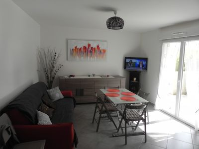 Photo for superb flat T3 56m ² in rez of garden town center street calm