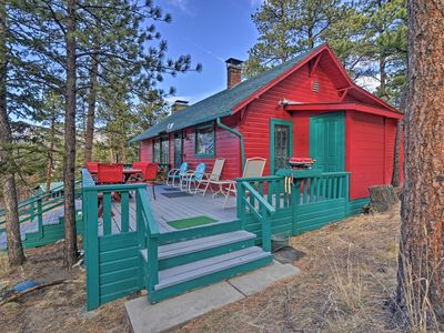 Photo for 'Faraway Cabin' w/Mtn View & Deck in Estes Park!