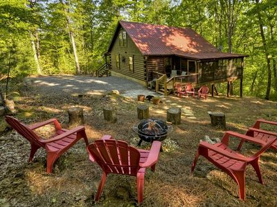 Photo for 2 Bedroom/2 Bath Log Cabin With Large Loft- Private Lake Access