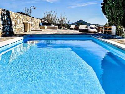 Photo for Unique traditional Cycladic villa with pool