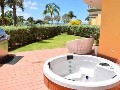 Photo for BEACHFRONT - EAGLE BEACH - OCEANIA RESORT - Beach Garden 1BR condo - E124-2