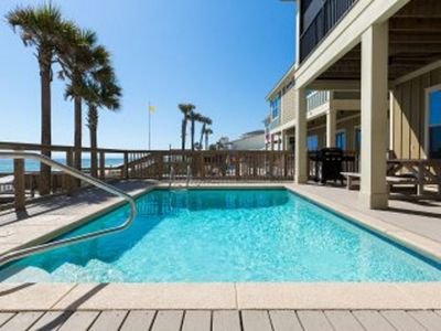 Photo for 4 bed 3.5 bath Oceanfront Beach House w Pool & Hot Tub - Directly on the Beach!