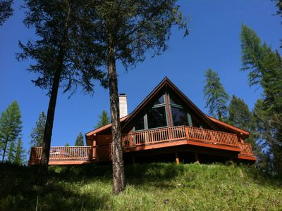 Photo for Cedar Chalet, clean, homey, hottub, wood fireplace, centrally located & private