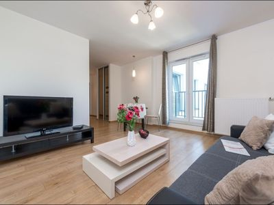 Photo for Obozowa apartment in Wola with WiFi, private parking & lift.