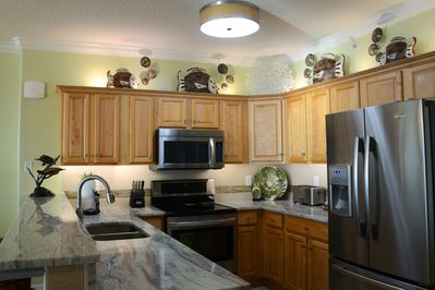 Fully equipped kitchen with all new upgraded appliances.